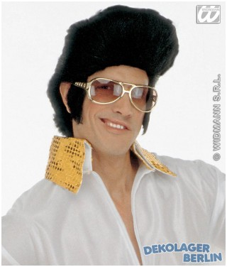 Elvis Sonnenbrille gold als Elvisbrille King of Rock n Roll Brille