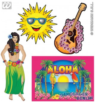 4er Set Hawaii Wand Dekoration