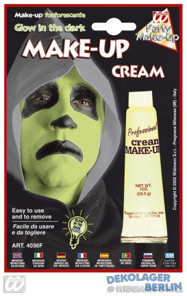 Leuchtende Halloween make up creme, glow in the dark