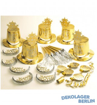 Silvester Party Set in gold 30 Teilig