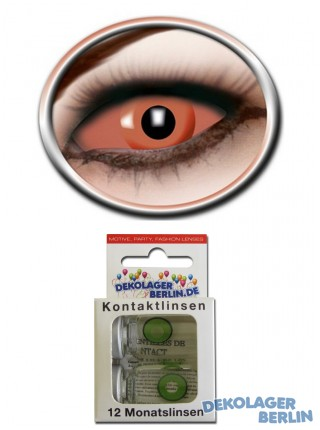 Sclera Kontaktlinsen orange eye von eyecatcher 22mm