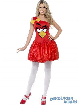 Original Angry Birds Kostüm in rot für Damen