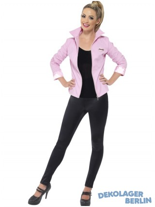 Original Grease 50 er Jahre deluxe Pink Ladies Jacke mit Namensschild
