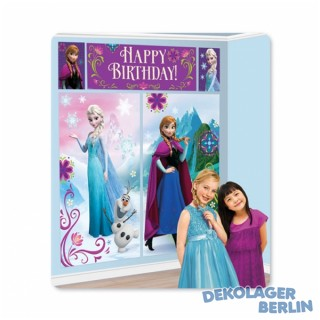 Frozen Eiskönigin Elsa Wand Deko Set Happy Birthday