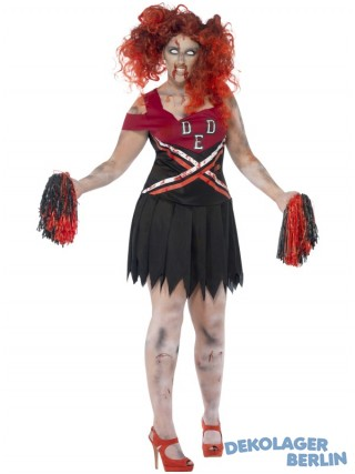 High School Horror Zombie Kostüm Cheerleader