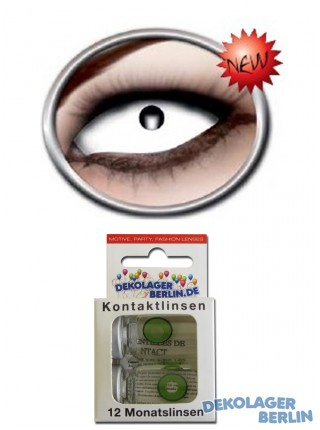 Sclera Kontaktlinsen full white eye 22mm