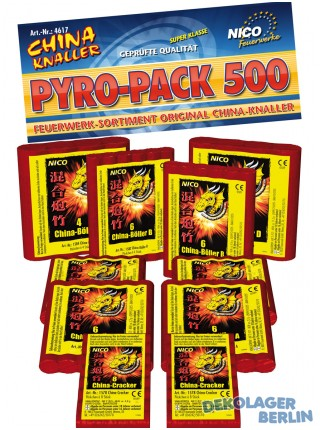 Nico Knall Sortiment China Böller Pyro Pack 500