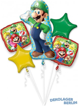 Ballon Bouquet Super Luigi