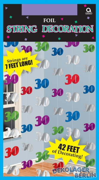 H ngende geburtstagsdeko zum 30 kaufen bei for Geburtstagsdeko 30