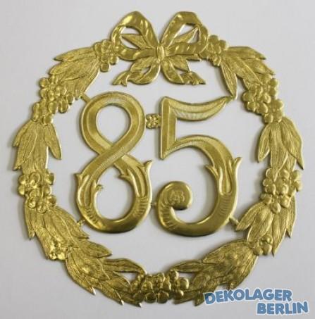 Jubil umszahl 85 in gold zum geburtstag jubil um kaufen for Geschenke zum 85 geburtstag