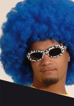 Riesen Afro Perücke blau-Dekolager Berlin