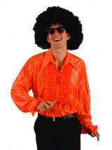 Disco Rüschenhemd Orange-Dekolager Berlin