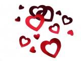 Konfetti für die Hochzeit rote Herzen 15 gr.-Dekolager Berlin